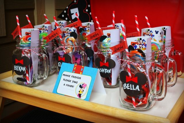 Favors at a Mickey Mouse Clubhouse Party #mickeymouse #favors