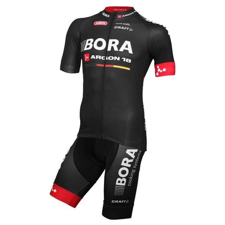 The Craft Bora Argon 18 Black Team kit is the replica of the official set of team Bora Argon, high quality garments with very light and effective materials that offer perfect ventilation and aerodynamics.  #craft #boraargonteam #retto