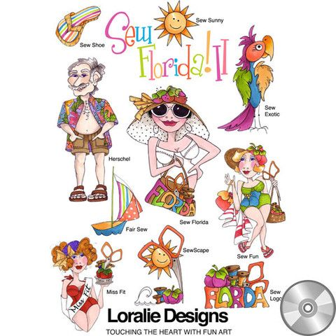 A fun filled Florida collection like this one will make you smile! Don't forget to put on your sunscreen when you soak up the sun with your sew. The culture of Florida easily makes a stylish sewing ex