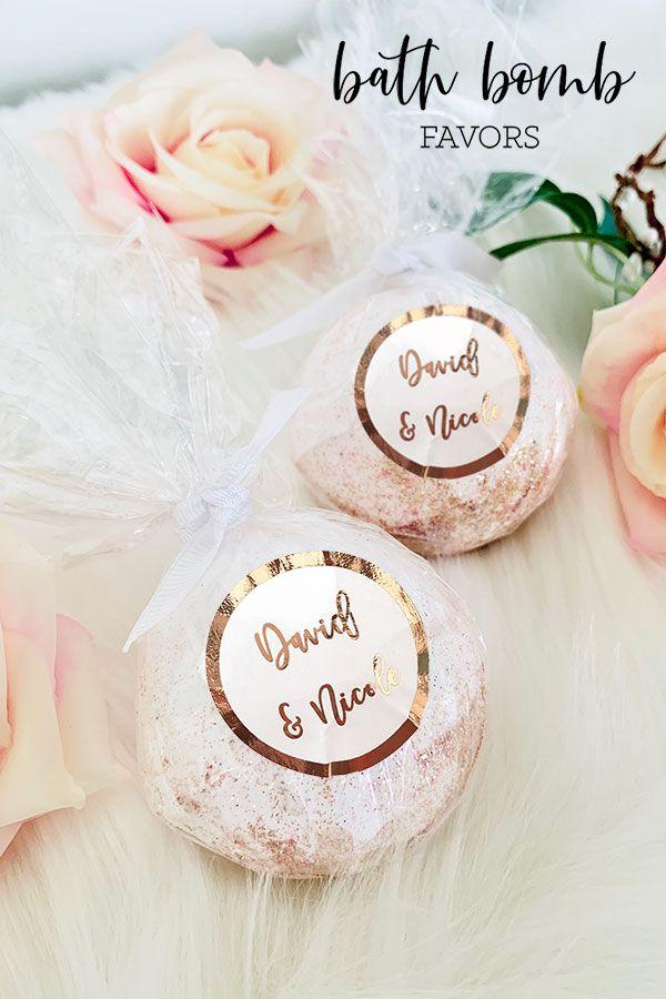 Bath Bomb Favors Candle Bridal Shower Favors Bridal Shower