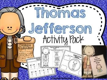 Thomas Jefferson This Thomas Jefferson Pack includes several different resources to help your kids learn all about Thomas Jefferson's accomplishments! This pack includes the following:- Slides that give students an overview of his life.- Booklet craftivity-  students will create a booklet that helps them remember all about his life.