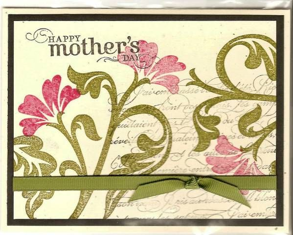 brocade basics - Happy Mother's Day Pink & Green card