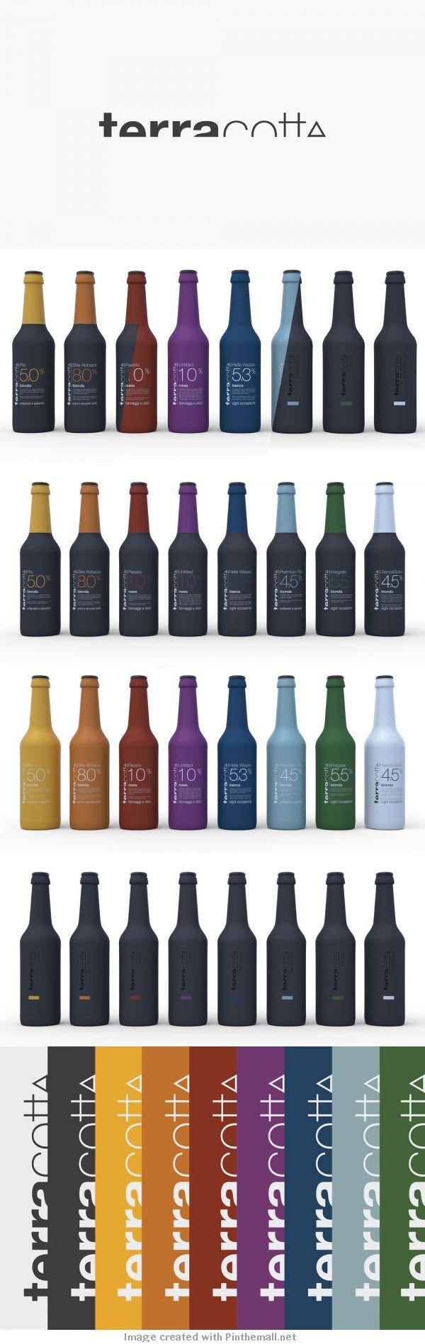 Concept Terracotta | Multicolor bottle packaging design series