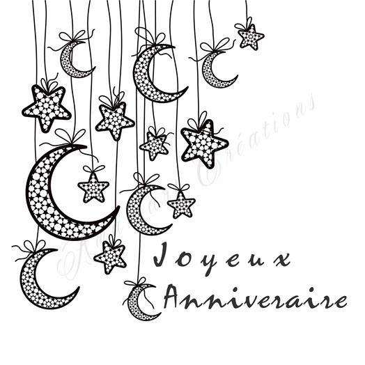 Carte Joyeux Anniversaire - 15 x 15 cm à imprimer : Cartes par amaizart-creations