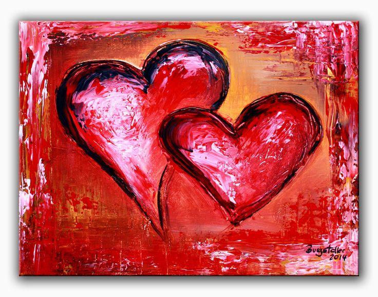 BURGSTALLER Herzbilder Acrylbild abstrakt Liebe Partner Mutter Geschenk Herz 135 http://www.burgstallers-art.de/online-shop/herzbilder/