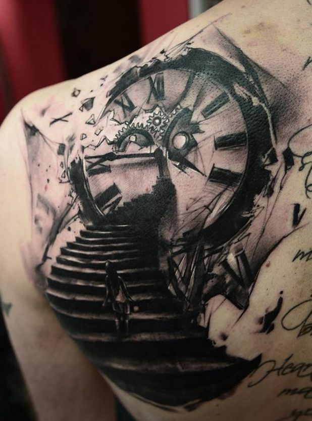 best 25 clock tattoos ideas on pinterest. Black Bedroom Furniture Sets. Home Design Ideas
