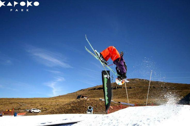 Airtime at Kapoko Park. #winter #lesotho #sport #snow