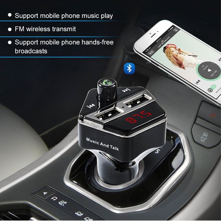 27.50€ Handsfree Wireless Car MP3 Audio Player Bluetooth FM Transmitter with 3.1A Dual USB Car Charger Support Calling Number Prompt  Features:1: Small appearance size, practical in most of the cars2. Support bluetooth 4.0/3.0/2.0, Support voice & calling prompt3. Support charger for Android & Iphone or other device, max. Output 3.1A4. Full frequency FM transmitter, total support 208 frequency5. Digital Display6. Support TF card/U disk MP3/WMA music play7....