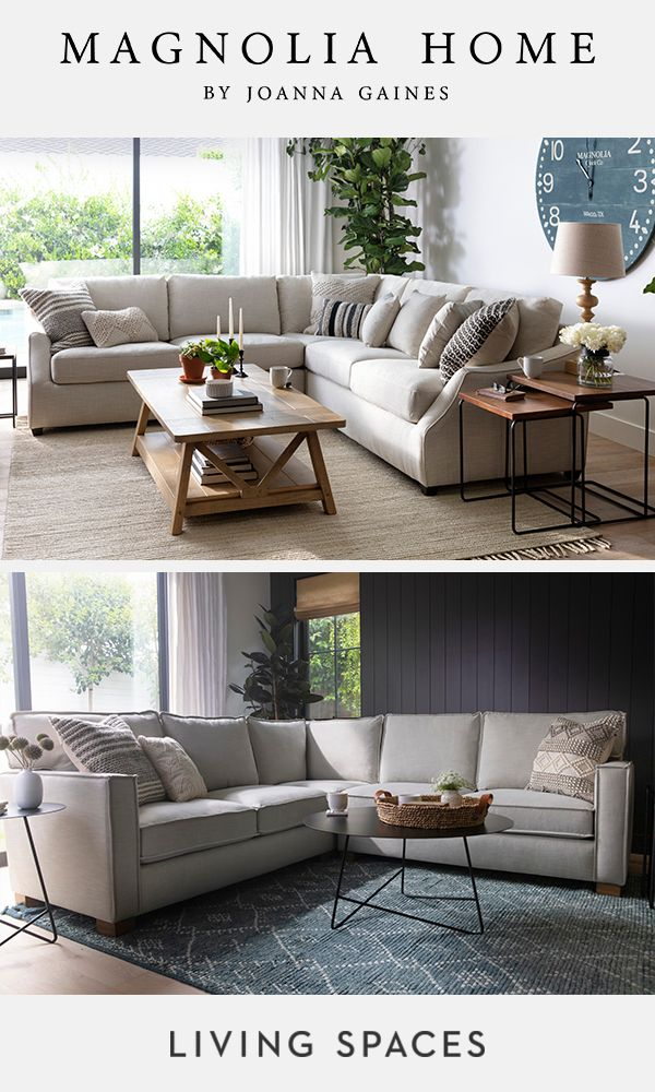 Magnolia Home By Joanna Gaines Living Room Collections Sectional Sofas Designed To B Joanna Gaines Living Room Farm House Living Room Living Room Decor Rustic #sectional #sofas #living #room #ideas