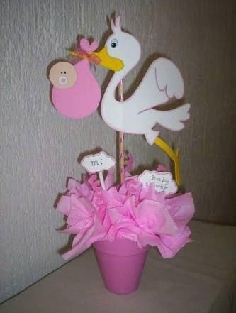 Resultado de imagen para centros de mesa para baby shower