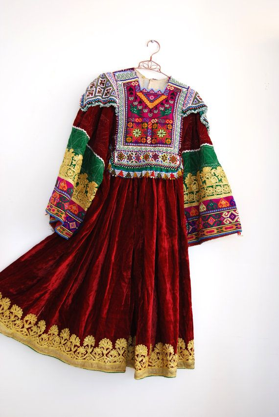 Vintage 70s ETHNIC AFGHAN traditional embroidered by EVIGVINTAGE