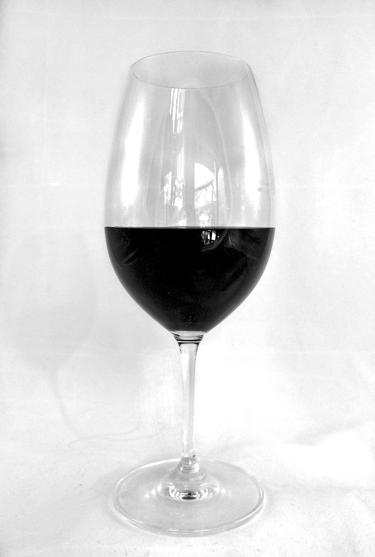 Filling a wine glass to the right level - at the widest part and about 1/3rd to 2/5ths full.