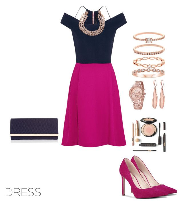 """""""Untitled #366"""" by xio24 on Polyvore featuring Roland Mouret, Nine West, Accessorize, Robert Lee Morris and Chanel"""