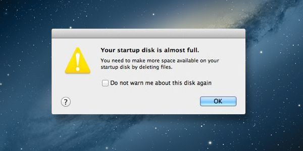 startup disk full - how to clean up Macbook