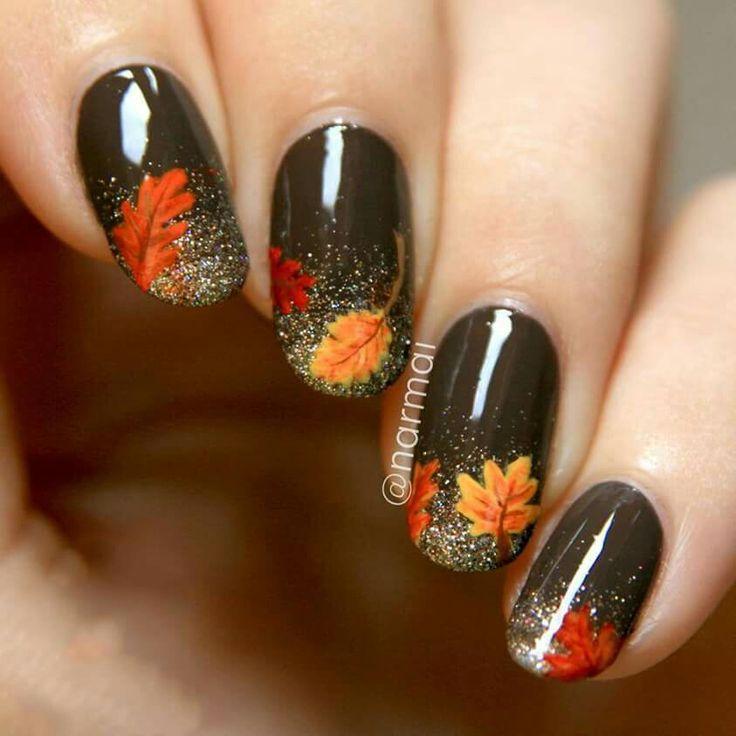 67 best holloween/ Fall nail art images on Pinterest | Autumn nails ...