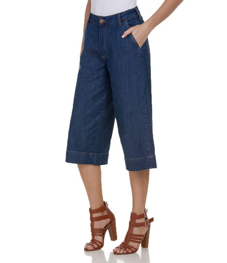 Calça Pantacourt Feminina em Jeans - Lojas Renner