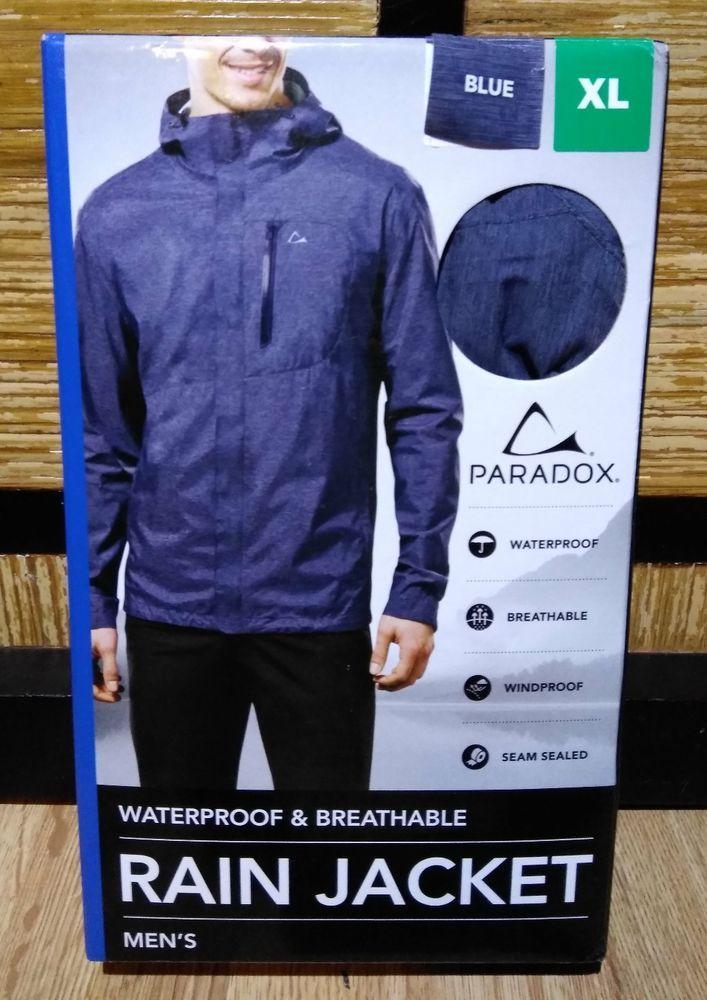 a205119962d Paradox Men s Waterproof Breathable Rain Jacket Navy Print Medium Extra  Large XL  Paradox  Rainwear