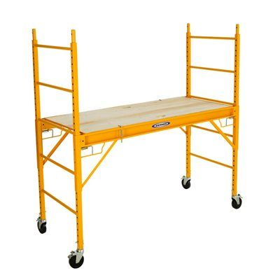Werner 6-ft Steel Rolling Scaffold