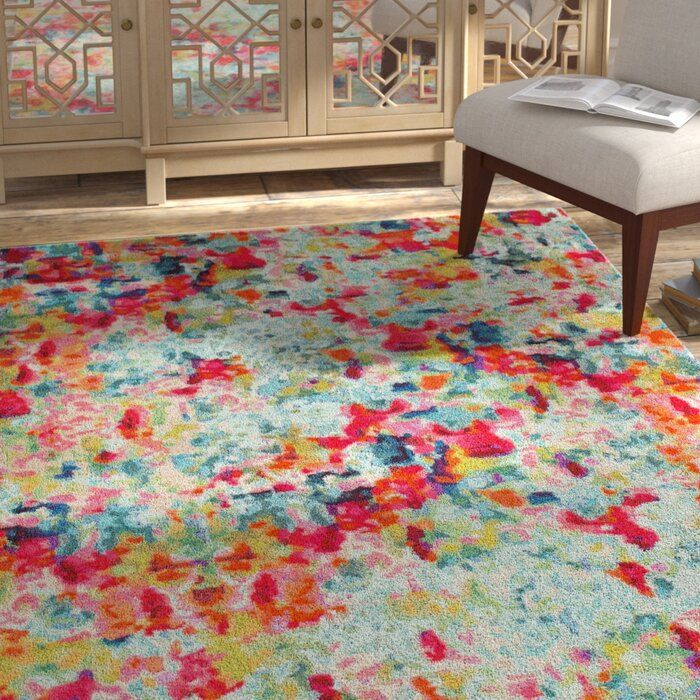 Piotrowski Abstract Red Green Rug In 2020 Colorful Area Rug Rugs On Carpet Bright Rugs #small #area #rug #in #living #room