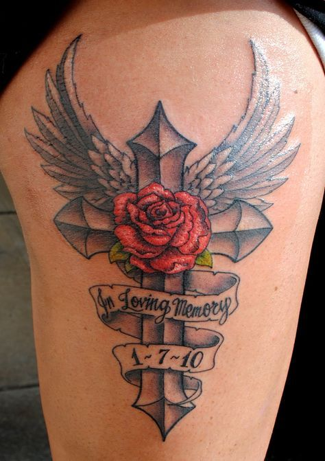 In memory tattoos | recently did this on a great girl who wanted a tattoo piece to ...