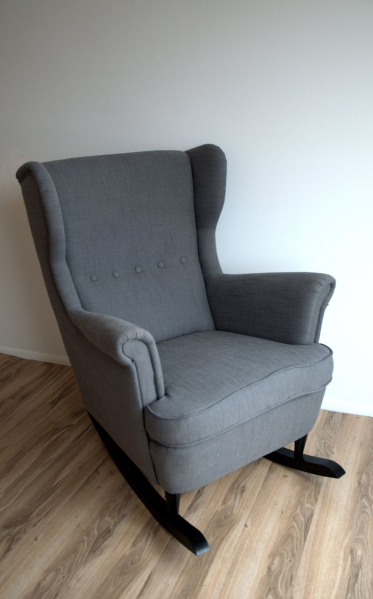 Money Saving Project: IKEA Wingback Chair Converted to Budget Nursery Rocker Interiors by Kenz