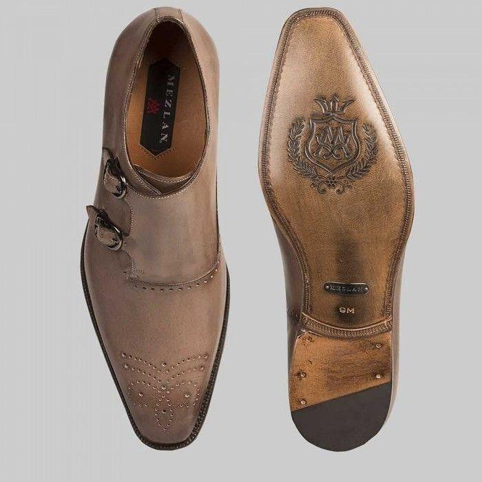 Mezlan Men/'s Lorea Memory Foam Grey Leather Oxfords Shoes