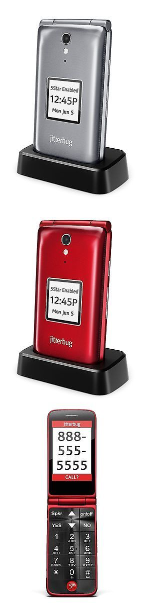 Hearing Assistance: New Jitterbug Flip Amplified Cell Phone For Seniors- Red Or Silver -Auth. Dealer -> BUY IT NOW ONLY: $79.95 on eBay!