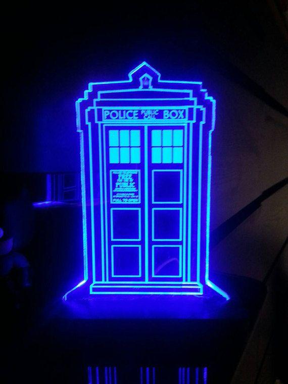 Dr. die Tardis LED Acryl display Zeichen von HeroLights auf Etsy