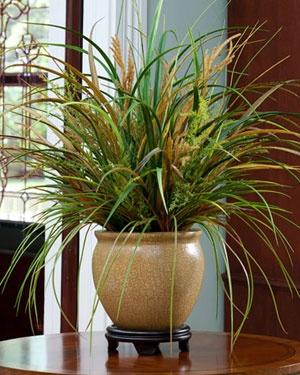 artificial plants & grass, Mixed Grass Centerpiece, silkflowers.com