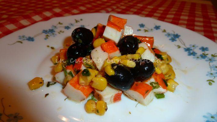 insalata di surimi ricetta semplice in cucina con pupina