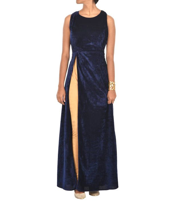 Royal blue velvet cape |  Shop now: www.thesecretlabel.com
