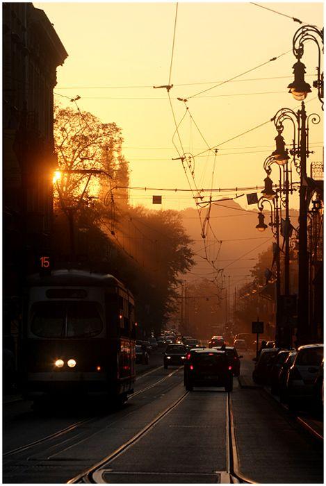 ul Pilsudskiego, w tle Kopiec Kosciuszki, Krakow