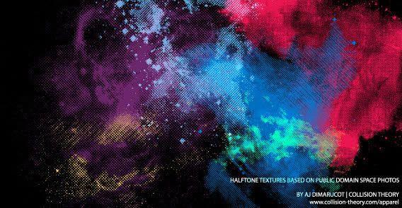 Space Textures Vector
