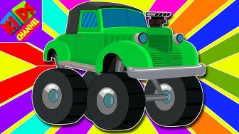 Monster truck destroyer abc | compilation for kids | learning video - YouTube