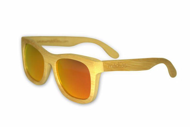 Madfas gafas en madera CIRRUS – Natural / Lente Fuego