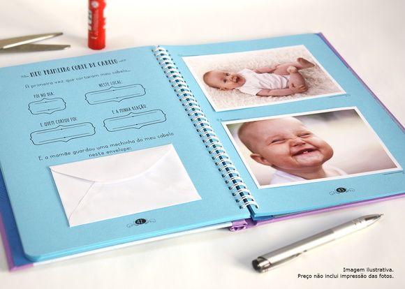 Diário do Bebê Personalizado - Príncipe                                                                                                                                                      Mais