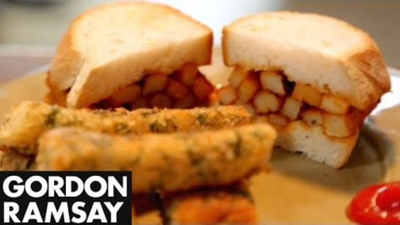 gordon ramsey fish fingers WITH DILL and chip butty