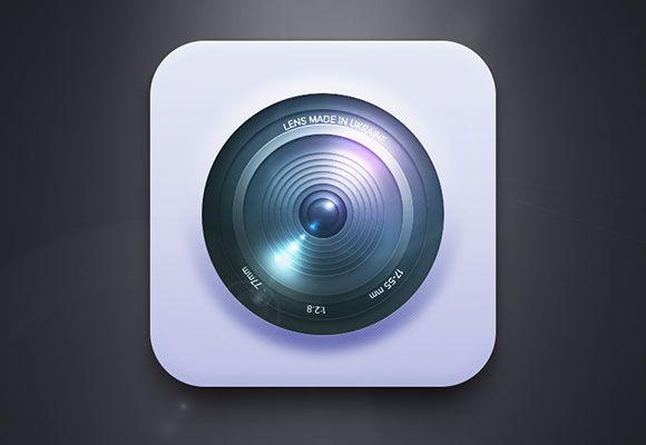 Free PSD camera lens icon