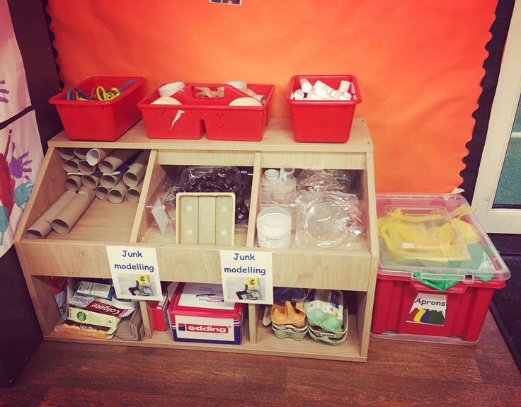 area junk modelling eyfs classroom early years creative crafts reception layout discover