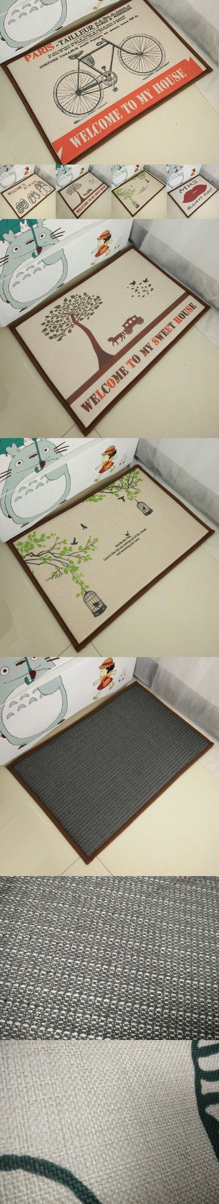 40*60cm Minimalist Pattern Door Mat for Room Washable Home Decoration Parlor Carpet Toilet Kitchen Rugs $13.16