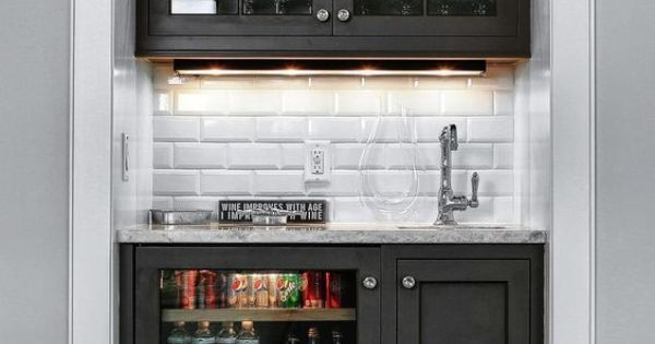 Liked on Pinterest: 15 Stylish Small Home Bar Ideas | Home Remodeling - Ideas for Basements Home Theaters & More | HGTV:
