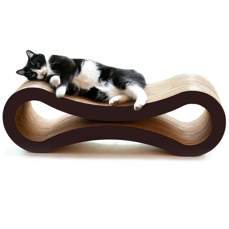 #Ebay#Cardboard Cat Scratcher#Lounge#Large#Activity#Board#Bed#Curved#Reversible#Brown