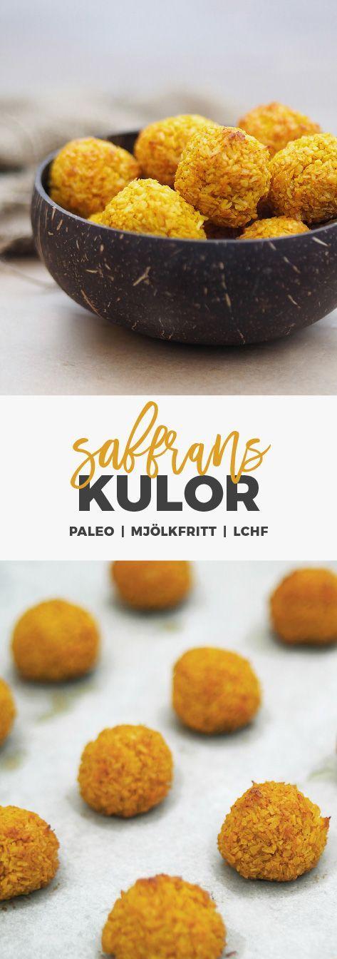 Recept: Saffranskulor / Kokostoppar. Glutenfri och mjölkfria.