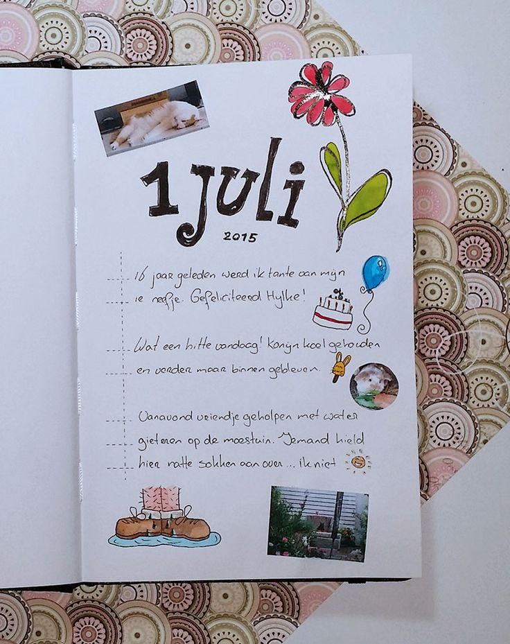 schets dagboek ©www.loveallcrafts.nl