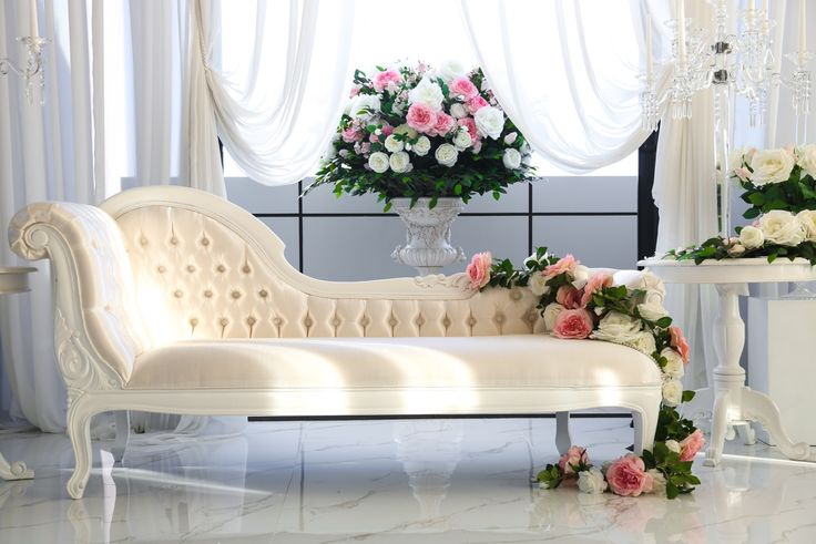 White French Chaise for hire info@elanakweddings.com.au