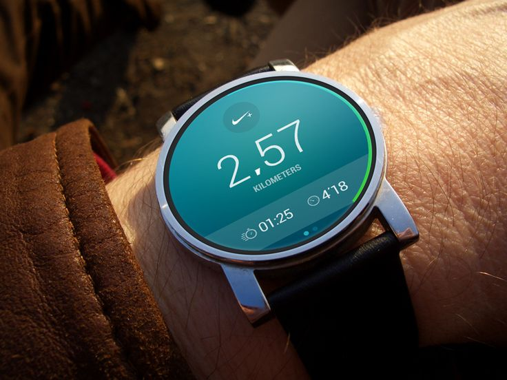 Android Wear: Nike Running - by Riste Lazoroski | #ui #android