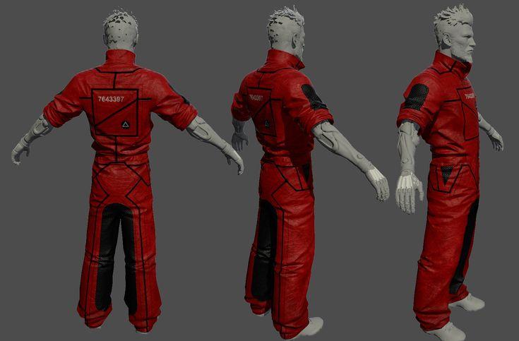 ArtStation - Deus Ex Mankind Divided - A Criminal Past DLC - Prison suit low res, Eugene Fokin