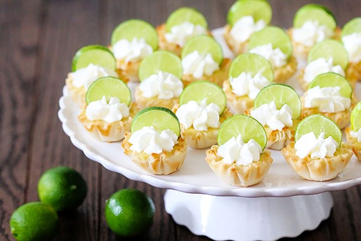 Shrink key lime pie down to bite-sized versions for a delicious mini treat.