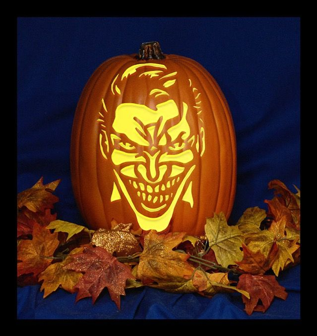 Best joker pumpkin ideas on pinterest stencil