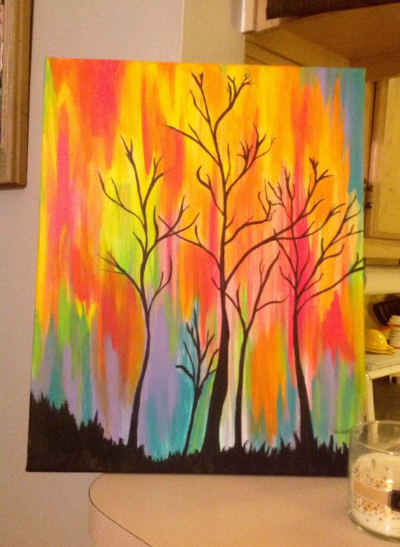 "SweetStyleCreations ~ ""Fire in the Sky"" ~ Acrylic on Canvas"